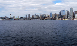 Downtown from West Seattle Water Taxi - 1
